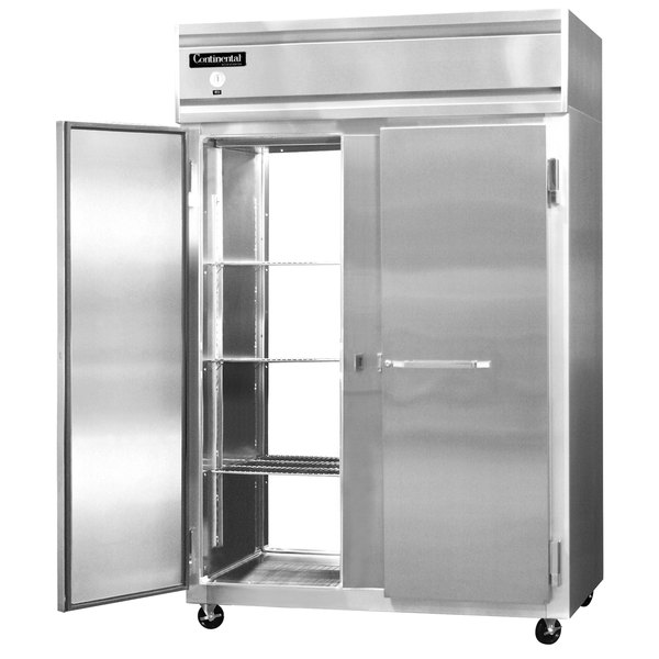 "Continental Refrigerator 2F-SS-PT 52"" Solid Door Pass-Through Freezer - 48 Cu. Ft. Main Image 1"