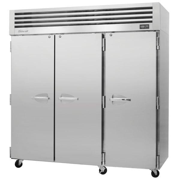 "Turbo Air PRO-77R-N 78"" Premiere Pro Series Solid Door Reach in Refrigerator"