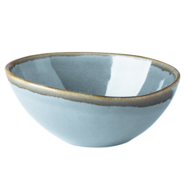 Arcoroc FJ353 Terrastone 15 oz. Blue Porcelain Bowl by Arc Cardinal - 24/Case