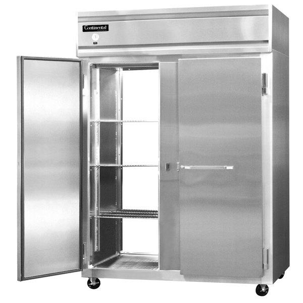 "Continental Refrigerator 2FE-PT 57"" Solid Door Extra Wide Pass-Through Freezer - 50 Cu. Ft."