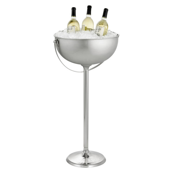 """Tablecraft RS2132 Remington Round Beverage Stand with Handle - 16"""" x 32"""""""