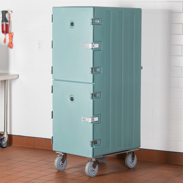 Cambro 1826DTCSP401 Camcart Slate Blue Double Compartment Tray and Sheet Pan Carrier with Security Package Main Image 5
