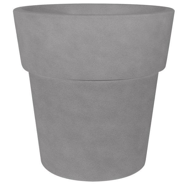 "Grosfillex US852594 Solta 19"" Sierra Cement Stackable Planter Main Image 1"