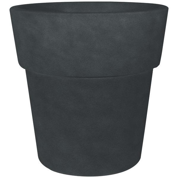 """Grosfillex US852113 Solta 19"""" Brushed Blackwash Stackable Planter - 3/Pack"""