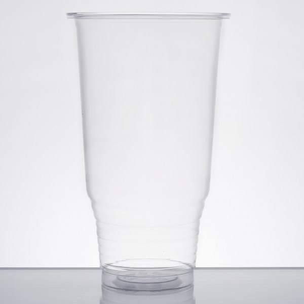 Choice 32 oz. Clear PET Plastic Cold Cup  - 50/Pack