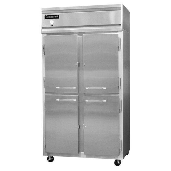 """Continental Refrigerator 2RSE-SA-HD 36"""" Half Door Narrow Reach-In Refrigerator - 30 Cu. Ft."""