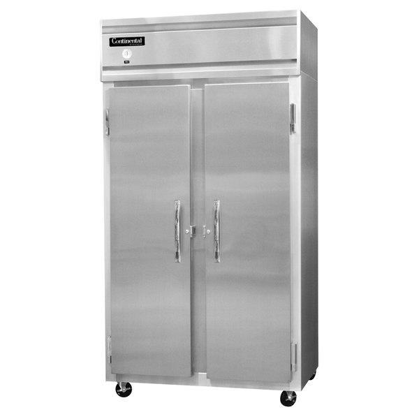 "Continental Refrigerator 2RSES-SS 36"" Shallow Depth Narrow Reach-In Refrigerator - 24 Cu. Ft."