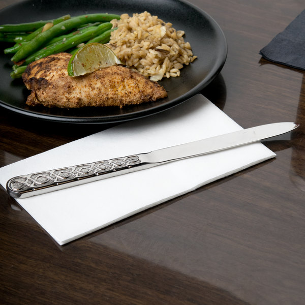 "10 Strawberry Street DUB-DK Dubai 9 1/2"" 18/0 Heavy Weight Stainless Steel Dinner Knife - 12/Case"