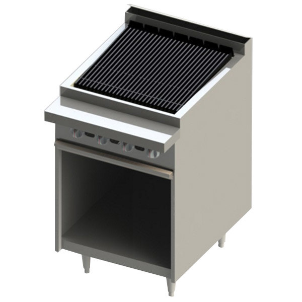 "Blodgett BR-24B-NAT Cafe Series Natural Gas 24"" Radiant Charbroiler with Cabinet Base - 60,000 BTU Main Image 1"