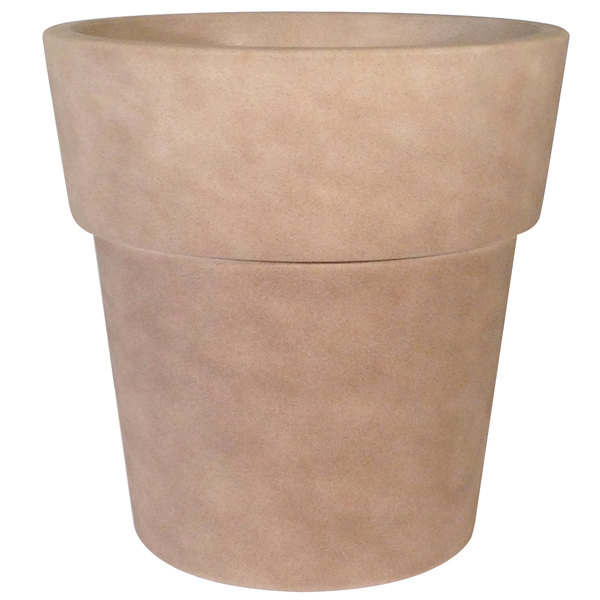 "Grosfillex US852148 Solta 19"" Pietra Stackable Planter Main Image 1"
