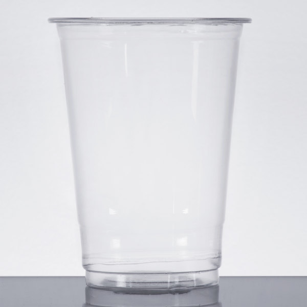 Choice 10 oz. Clear PET Plastic Cold Cup  - 50/Pack