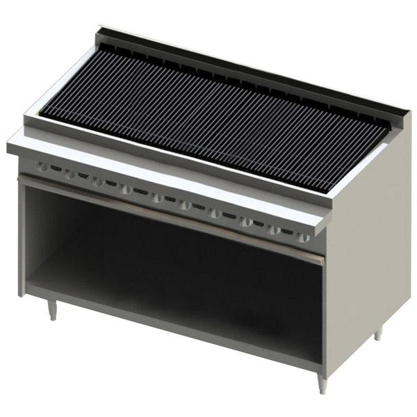 "Blodgett BR-60B-NAT Cafe Series Natural Gas 60"" Radiant Charbroiler with Cabinet Base - 150,000 BTU Main Image 1"