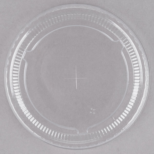 Clear Plastic Lid with Straw Slot - 1000/Case