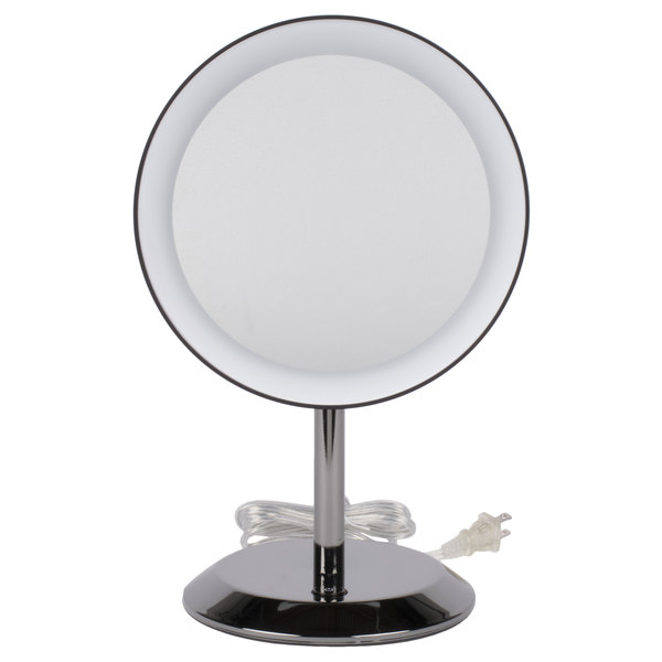Lighted Makeup Mirror.Conair Be50lbchw 9 Black Chrome Freestanding Led Lighted Vanity Mirror With On Off Push Button