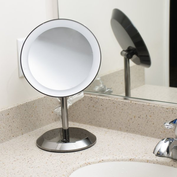 Conair be50lbchw 9 black chrome freestanding led lighted vanity conair be50lbchw 9 black chrome freestanding led lighted vanity mirror with on off push button aloadofball Image collections