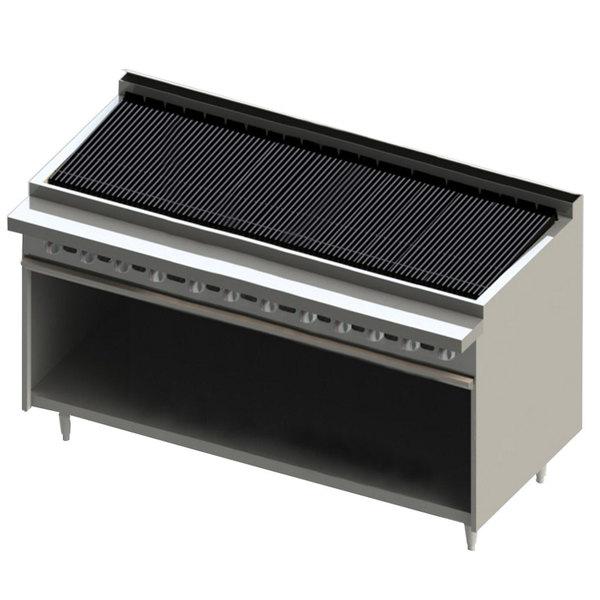 "Blodgett BR-72B-NAT Cafe Series Natural Gas 72"" Radiant Charbroiler with Cabinet Base - 180,000 BTU Main Image 1"