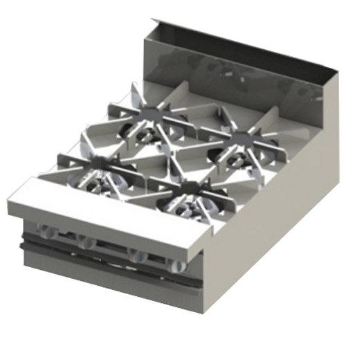 "Blodgett BR-4-M-NAT Cafe Series Natural Gas 4 Burner 24"" Modular Manual Range - 60,000 BTU Main Image 1"