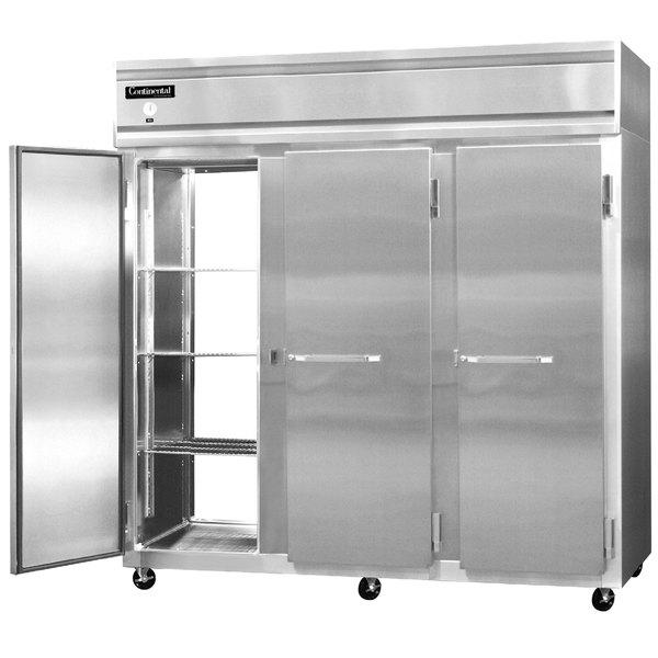 """Continental Refrigerator 3F-SA-PT 78"""" Solid Door Pass-Through Freezer - 70 Cu. Ft. Main Image 1"""