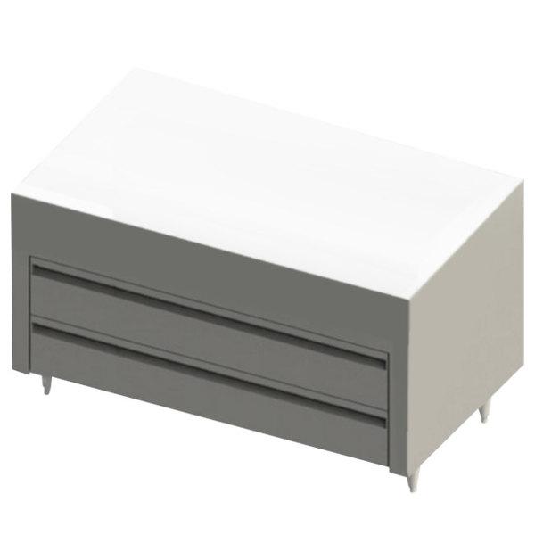 "Blodgett BRLH-02R-B-48 Cafe Series 48"" 2 Drawer Remote Condenser Refrigerator Chef Base Main Image 1"