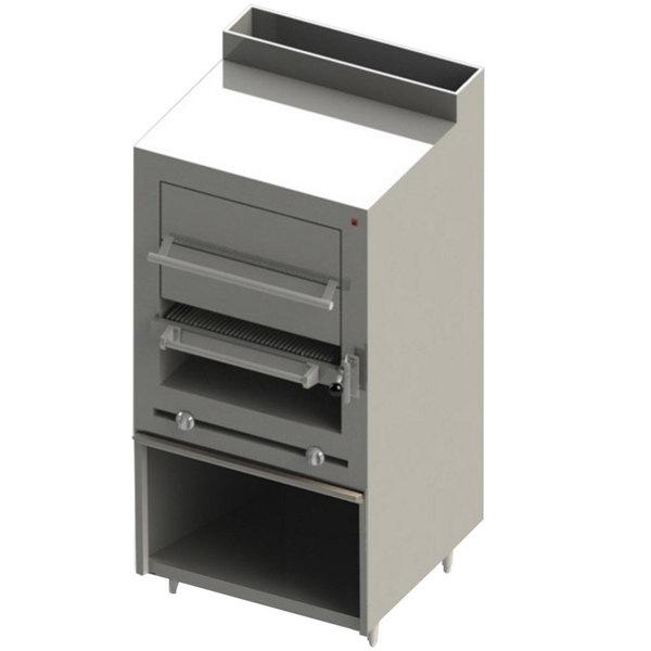 Blodgett BSHBR-36H-NAT Cafe Series Natural Gas Upright Radiant Broiler with Cabinet Base and Warming Oven - 90,000 BTU