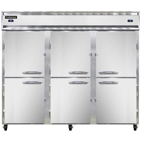 "Continental Refrigerator 3RFFE-HD 85 1/2"" Half Door Extra-Wide Dual Temperature Reach-In Refrigerator / Freezer / Freezer - 71 cu. ft. Main Image 1"