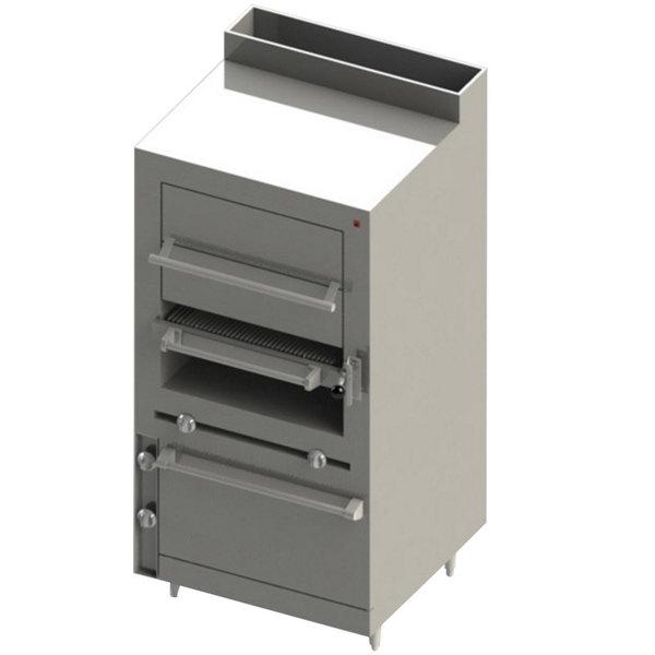 Blodgett BSHBR-36-36-LP Cafe Series Liquid Propane Upright Radiant Broiler with Standard Oven - 125,000 BTU