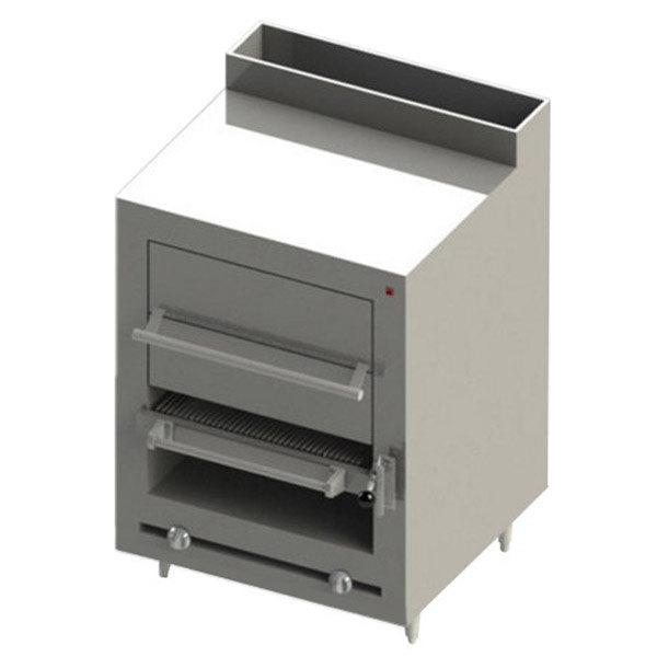 Blodgett BMHBR-36H-NAT Cafe Series Natural Gas Modular Radiant Broiler with Warming Oven - 90,000 BTU Main Image 1