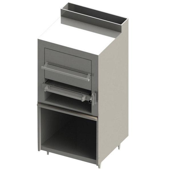 Blodgett BSHBR-36-NAT Cafe Series Natural Gas Upright Radiant Broiler with Cabinet Base - 90,000 BTU