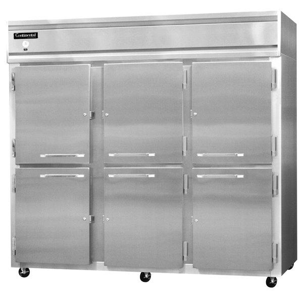 """Continental Refrigerator 3RE-SA-HD 86"""" Half Door Extra Wide Reach-In Refrigerator - 73 Cu. Ft."""