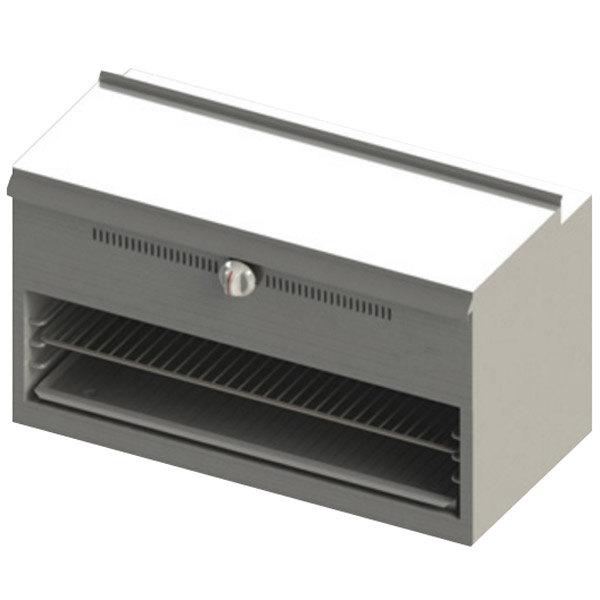 "Blodgett BR-CM36-RM-LP Cafe Series Liquid Propane 36"" Range Mount Cheese Melter - 30,000 BTU"