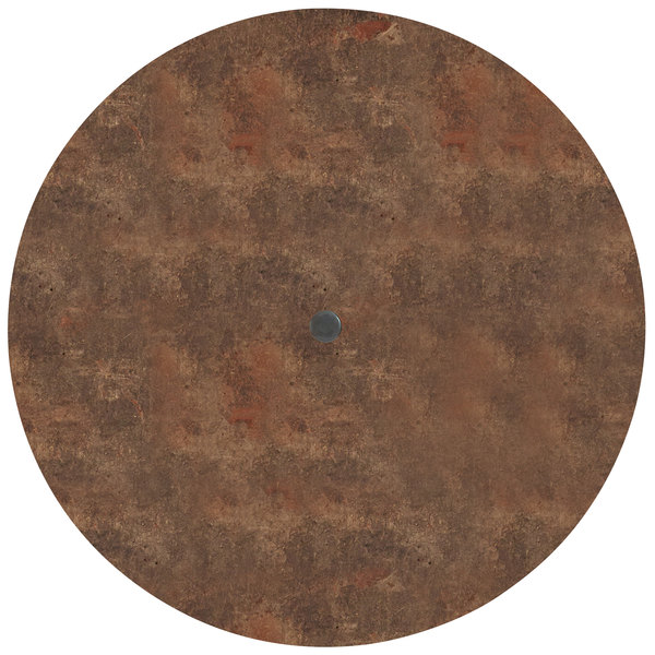 """Grosfillex US42FA37 Sunset 42"""" Round Lava Table Top Main Image 1"""