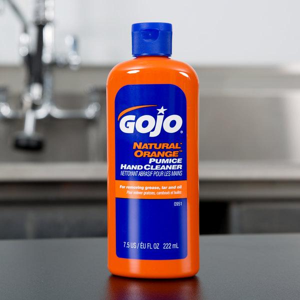 gojo 0951 15 7 5 oz natural orange pumice hand cleaner