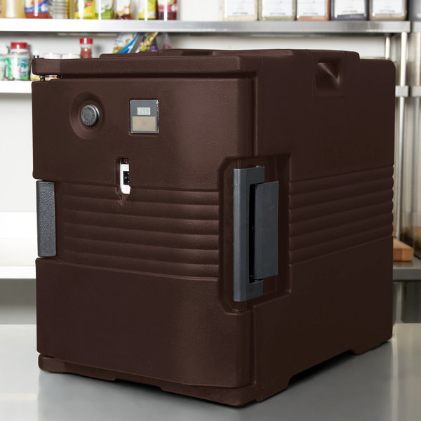 Cambro UPCH400131 Ultra Pan Carrier® Dark Brown Electric Hot Food Holding Cabinet in Fahrenheit - 110V Main Image 4