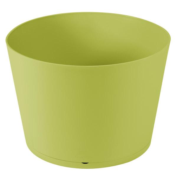 "Grosfillex US258282 Tokyo 20"" Cactus Green Stacking Planter Main Image 1"