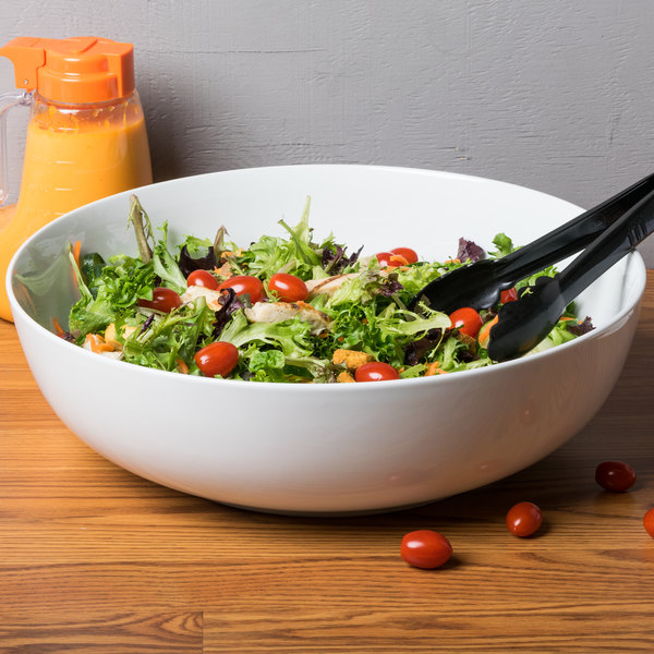 CAC MXS-16 10 Qt. Bright White Porcelain Salad Bowl - 4/Case Main Image 6