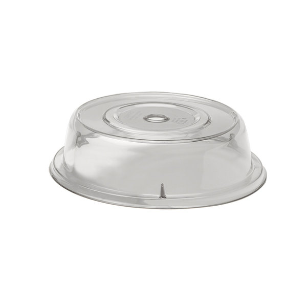 """Cambro 1005CW152 Camwear 10 9/16"""" Clear Camcover Plate Cover - 12/Case"""