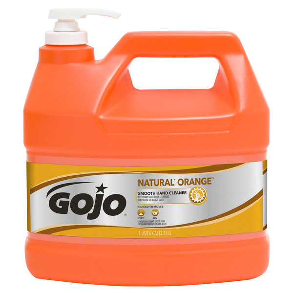 GOJO® 0945-04 1 Gallon Natural Orange Smooth Hand Cleaner Main Image 1