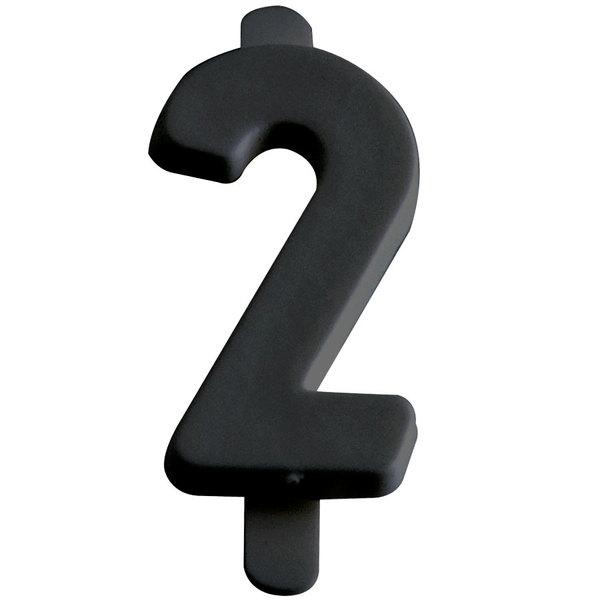 "3/4"" Black Molded Plastic Number 2 Deli Tag Insert - 50/Set Main Image 1"