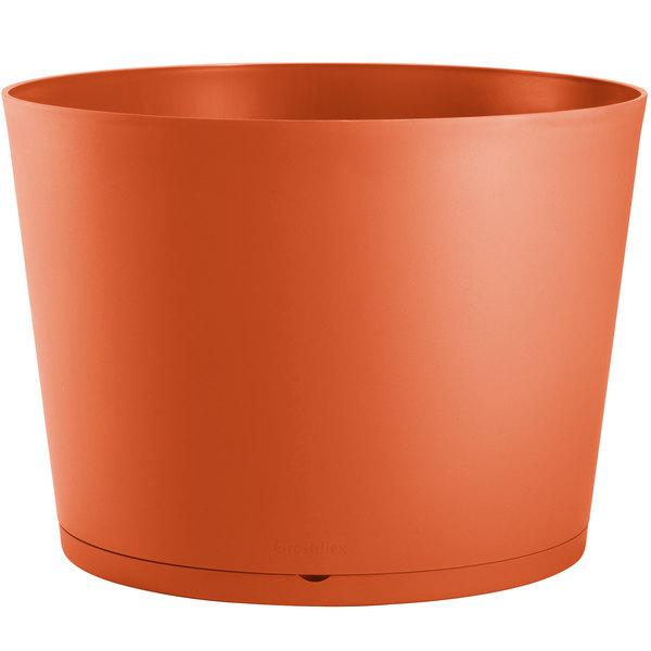 """Grosfillex US260283 Tokyo 32"""" Orange Stacking Planter Main Image 1"""