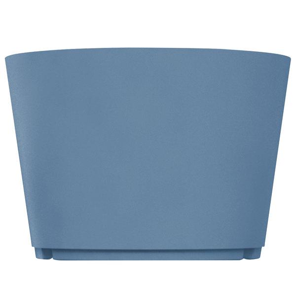 """Grosfillex US160680 Tokyo 32"""" Denim Blue Stacking Planter"""