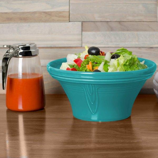 Homer Laughlin 431107 Fiesta Turquoise 1.25 Qt. Hostess Serving Bowl - 4/Case