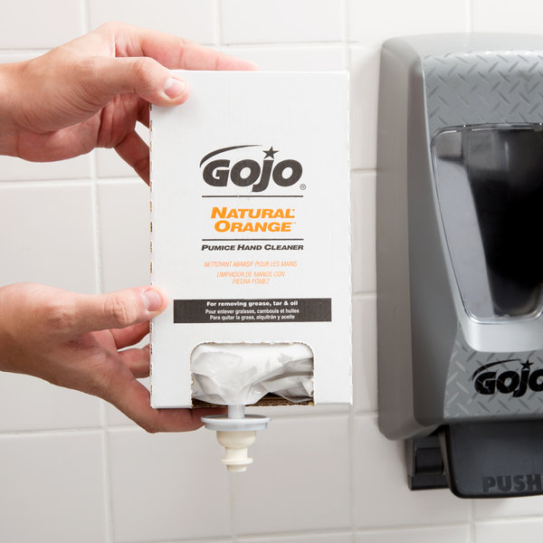 GOJO® 7255-04 TDX 2000 mL Natural Orange Pumice Hand Cleaner