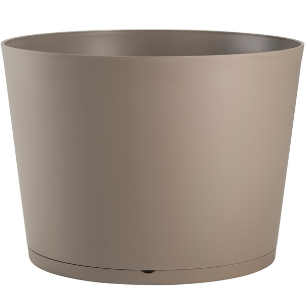"Grosfillex US260181 Tokyo 32"" Taupe Stacking Planter"