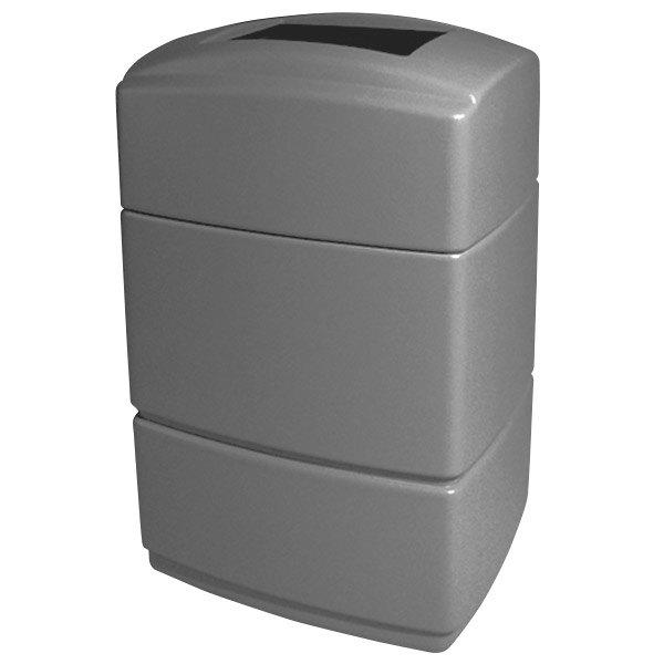 Commercial Zone 770726 PolyTec Series Shell Gray 40 Gallon Rectangular Trash Can