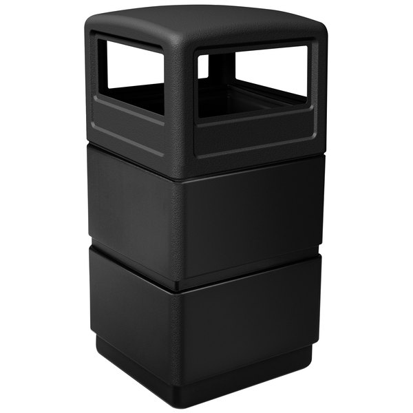Black Commercial Zone 732401 38-Gallon 3-tier Waste Container