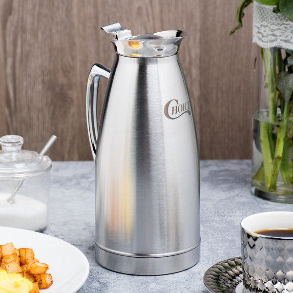 Choice 33 oz. Stainless Steel Thermal Beverage Server