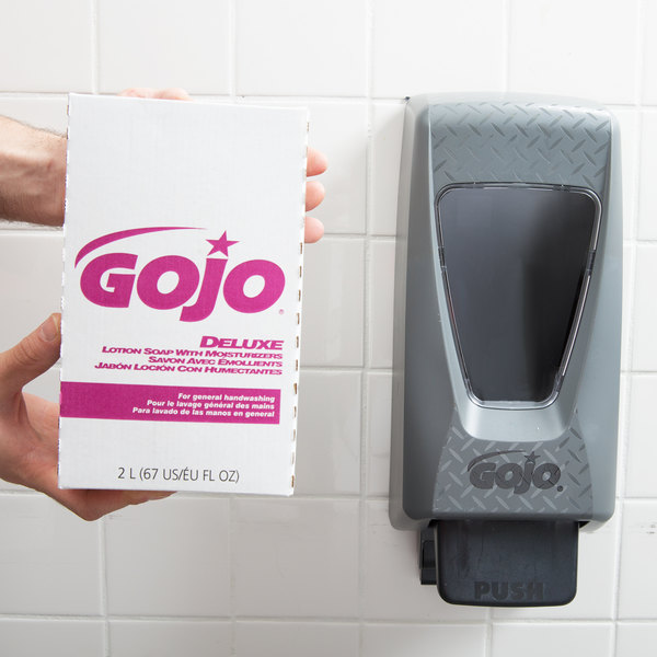 GOJO® 2217-04 NXT Deluxe 2000 mL Floral Lotion Hand Soap with Moisturizers Main Image 7