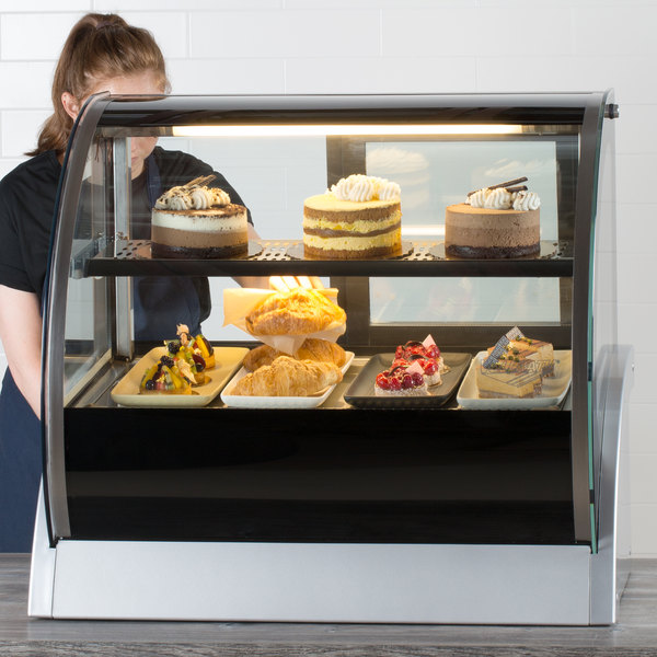 """Vollrath 40852 36"""" Curved Glass Refrigerated Countertop Display Cabinet Main Image 5"""