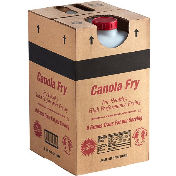 Box of canola oil