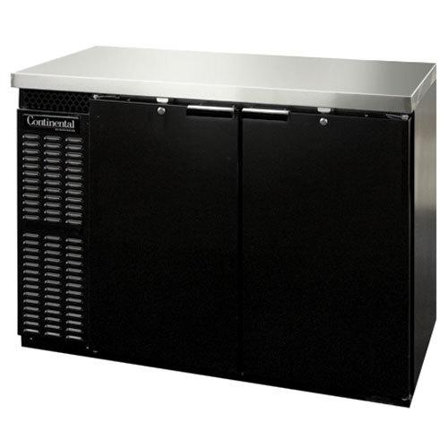 """Continental Refrigerator BBC59-PT 59"""" Black Pass-Through Back Bar Refrigerator"""